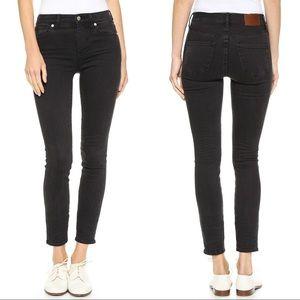 Madewell Skinny Skinny High Riser Black Denim Jean